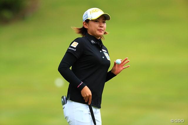 2017年 ヨネックスレディスゴルフトーナメント 最終日 永井花奈 このまま髪の毛伸ばしてくのかな?