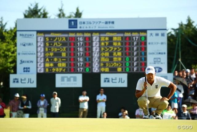 2017年 日本ツアー選手権 森ビル杯 Shishido Hills 最終日 小平智 優勝には届かなかったものの日本人最上位の3位でフィニッシュした小平智