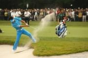 2009年 日本オープンゴルフ選手権競技 3日目 石川遼 バンカー