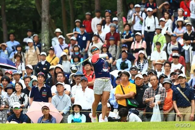 2017年 サントリーレディスオープンゴルフトーナメント 初日 宮里藍 大会初日最多の6735人のギャラリーが訪れた