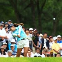 大会最後の18番ティーショット 2017年 サントリーレディスオープンゴルフトーナメント 最終日 宮里藍