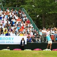 大会最終日の1打目ティーショット 2017年 サントリーレディスオープンゴルフトーナメント 最終日 宮里藍