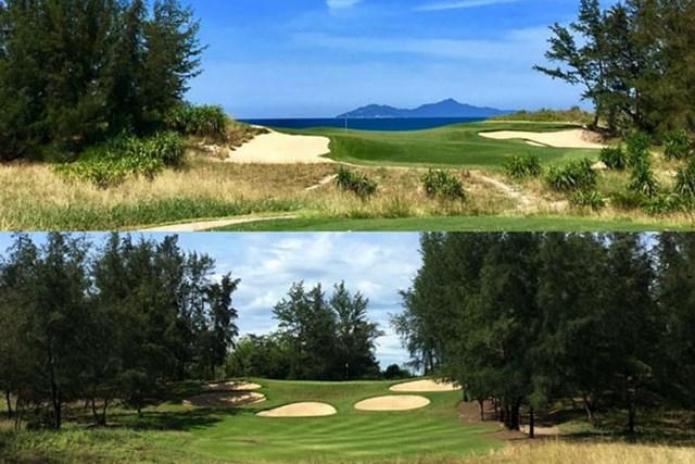 2017年 クイーンズカップ 事前 ダナンのゴルフコース ダナンゴルフクラブ(上)とモンゴメリーリンクス。どちらも趣向のきいた素晴らしいコースでした