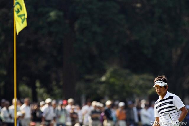 2009年 日本オープンゴルフ選手権競技 最終日 藤田寛之 各ホール必死の形相でラウンドした藤田寛之。4位タイでフィニッシュ