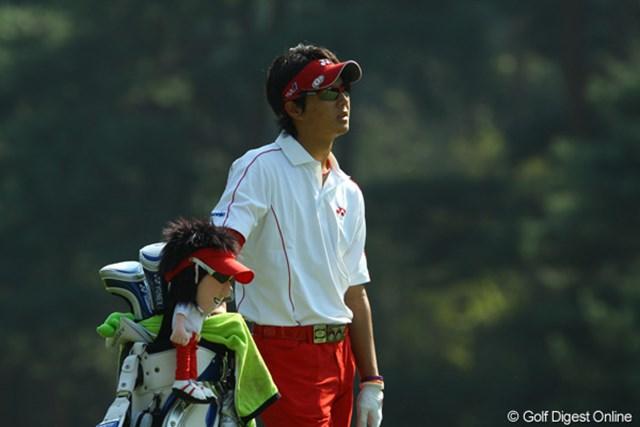 2009年 日本オープンゴルフ選手権競技 最終日 石川遼ヘッドカバー 「君とお揃いのコーディネートにしてみたけど、その笑顔だけは、今日は真似できないや・・・」