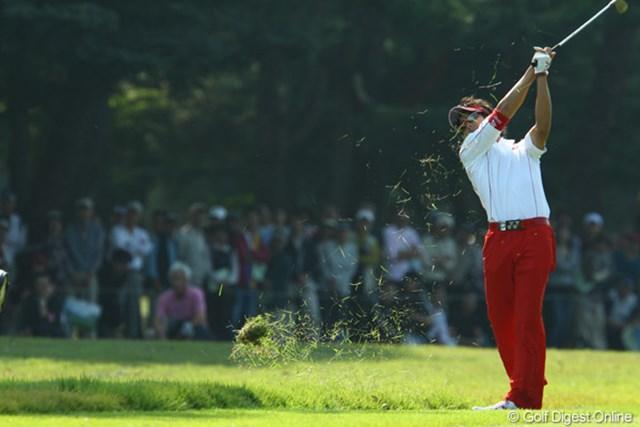 2009年 日本オープンゴルフ選手権競技 最終日 石川遼6番サードショット 「も~う、ラフ嫌いっ!!おいっ、バンカー入るな!」