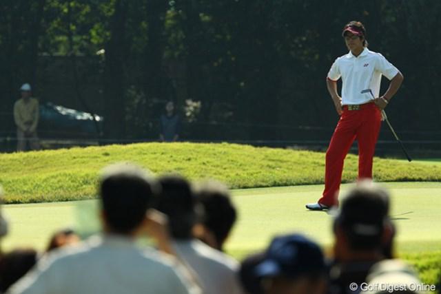 2009年 日本オープンゴルフ選手権競技 最終日 石川遼9番グリーン 「ほんと、パターが入らないッス」