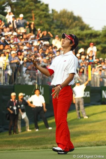 2009年 日本オープンゴルフ選手権競技 最終日 石川遼18番ホールバーディパット 「どうして最後の最後まで入ってくれないのぉ~~~~!!」