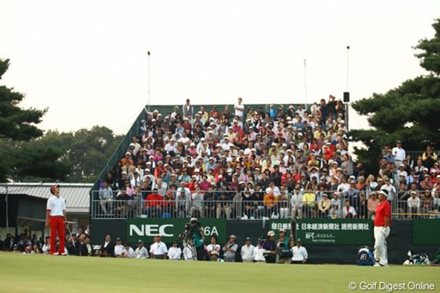 2009年 日本オープンゴルフ選手権競技 最終日 石川遼プレーオフ2ホール目 「も~う、入ったと思ったのに・・・」