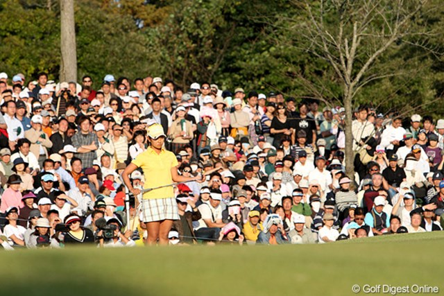 2009年 富士通レディース最終日 宮里藍 藍ちゃんのプレーにギャラリーも魅せられた