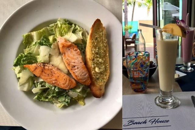 2017年 クイーンズカップ 事前 サムイのランチ ビーチで食べたのはシーザーサラダ。東南アジアっぽくないですが・・・