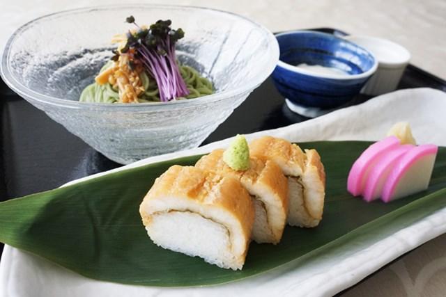 6月限定メニュー 鎌倉和食「穴子寿司と冷たいよもぎ蕎麦」1500円→500円に!