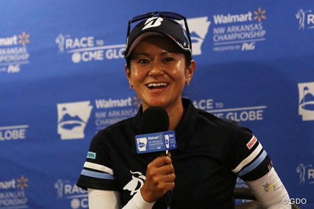 2017年 ウォルマート NW アーカンソー選手権 by P&G 事前 宮里藍 引退表明後初の米ツアーに臨む宮里藍は開幕2日前に公式会見に出席した