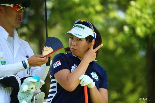 2017年 アース・モンダミンカップ 2日目 吉田弓美子 吉田さんの弓美子さんのその1。