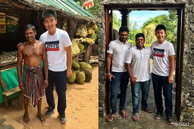 川村昌弘 スリランカで出会った人々。一番左は果物屋さんです