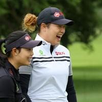 ジュタヌガン姉妹。体が大きい方が世界ランキング2位の妹・アリヤ 2017年 KPMG女子PGA選手権 事前 モリヤ・ジュタヌガン アリヤ・ジュタヌガン