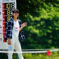 シャツの着方がイナセだね。 2017年 長嶋茂雄招待セガサミーカップ 2日目 高島早百合