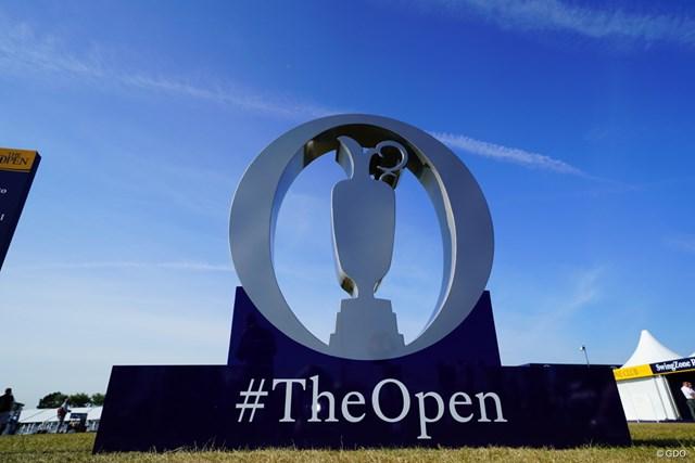 2017年 全英オープン 事前 オブジェ 記念撮影できるようにTHE OPENのオブジェが。