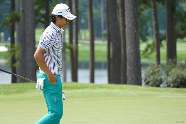 2017年 バーバゾル選手権 2日目 石川遼 この日もグリーン上で苦戦した石川。5戦連続で予選落ち