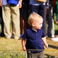 赤ちゃんのファッションも英国って感じでカッコイイ。 2017年 全英オープン 3日目 ギャラリー