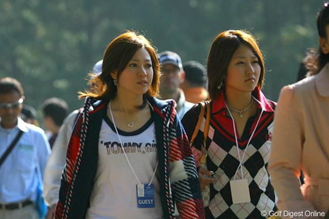 2009年 マイナビABCチャンピオンシップ 初日 竹村真琴 姉妹で男子ツアー観戦に訪れた竹村真琴。刺激を受けて、自身はQTへと挑む