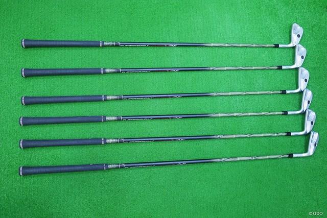 イーデルゴルフ シングルレングスアイアン SLS-01 マーク金井試打インプレッション 全番手長さが同じ、クラブ重量、ライ角も同じとなっているので、全番手同じスイングで打てる。