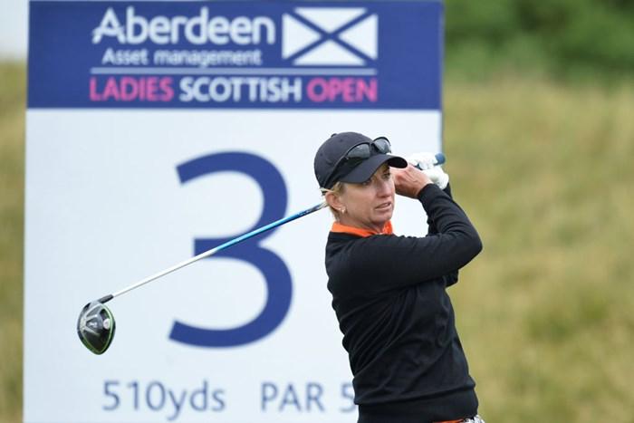 2日目に後退したウェブは巻き返しで首位に浮上(Mark RunnaclesGetty Images) 2017年 アバディーンアセットマネジメント 女子スコットランドオープン 3日目 カリー・ウェブ