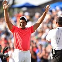 プレーオフの末に大会連覇を達成したジョナサン・ベガス(Minas Panagiotakis/Getty Images) 2017年 RBCカナディアンオープン 最終日 ジョナサン・ベガス