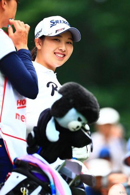 2017年 北海道meijiカップ 初日 小祝さくら 笑顔が貰えりゃ満足です