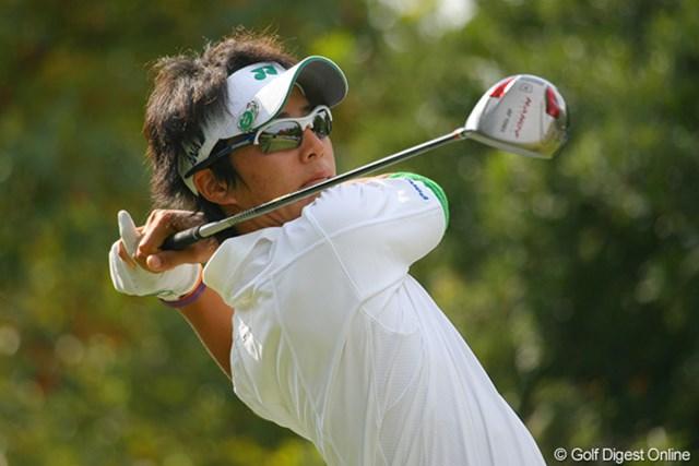 2009年 マイナビABCチャンピオンシップゴルフトーナメント 2日目 石川遼 ドライバーをすぐに修正し、「昨日より内容が良かった」と満足げな石川遼