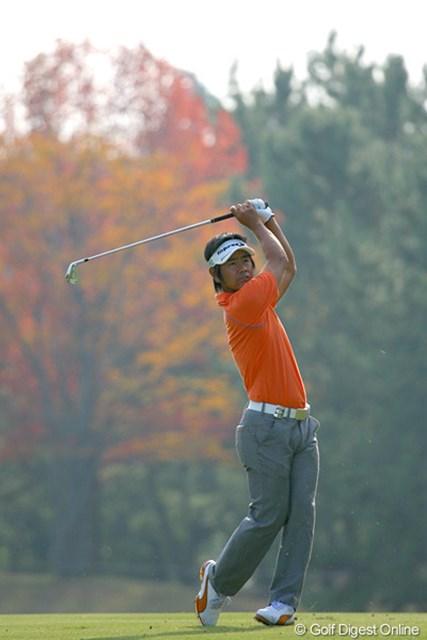 2009年 マイナビABCチャンピオンシップゴルフトーナメント 2日目 藤田寛之 「内容のある良いゴルフだった」という藤田寛之。優勝争いにも自信を見せた