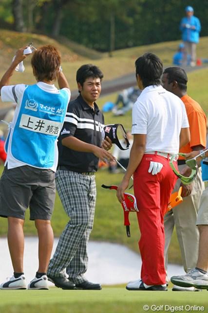 2009年 マイナビABCチャンピオンシップゴルフトーナメント 2日目 甲斐慎太郎 3週前からボールをZ-STARのプロトタイプに代え、距離感が合ってきたという甲斐慎太郎
