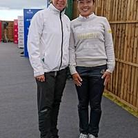 かつてはアニカアカデミーで腕を磨いた西山ゆかり。4年ぶりの再会を喜んだ 2017年 全英リコー女子オープン 3日目 西山ゆかり&アニカ・ソレンスタム