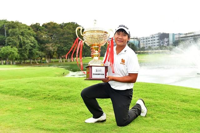 2勝目を挙げたタイのプーム・サクサンシン※アジアンツアー提供