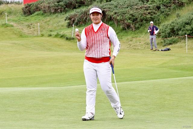 2017年 全英リコー女子オープン 最終日 川岸史果 日本でも課題の最終日に「66」と伸ばし、有終を飾った川岸史果