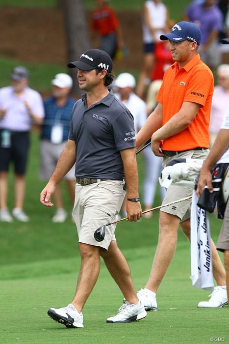 身長が低くても、バランスよく着こなせばショートパンツは誰でも似合いますよ 2017年 全米プロゴルフ選手権 事前 ブライアン・ハーマン ダニエル・バーガー ショートパンツ