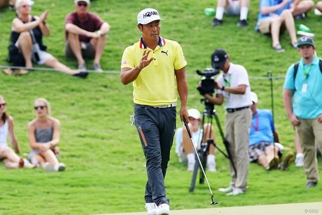 2017年 全米プロゴルフ選手権 初日 谷原秀人 谷原秀人は後半15番でイーグルを決めた