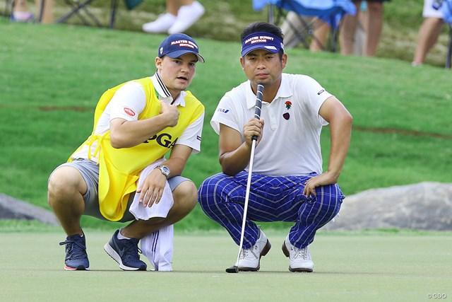 2017年 全米プロゴルフ選手権 初日 池田勇太 池田勇太はメジャー最終戦で現地のハウスキャディを起用している