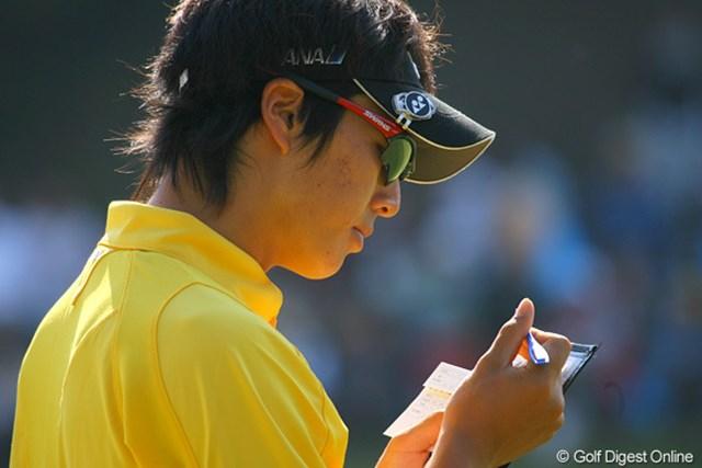 2009年 マイナビABCチャンピオンシップゴルフトーナメント 3日目 石川遼 「『千里の道』にも書いてあった」という方法で、見事に最終組をゲットした石川遼