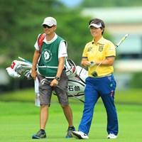 今日も安定のゴルフでスコアを伸ばしましたね。5位タイ。 2017年 NEC軽井沢72ゴルフトーナメント 2日目 福田裕子