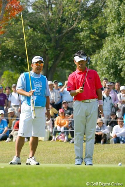 2009年 マイナビABCチャンピオンシップゴルフトーナメント 3日目 鈴木亨 家族だけではなく、「お世話になっている人も大分待たせているし」と優勝に懸ける思いを語る鈴木亨