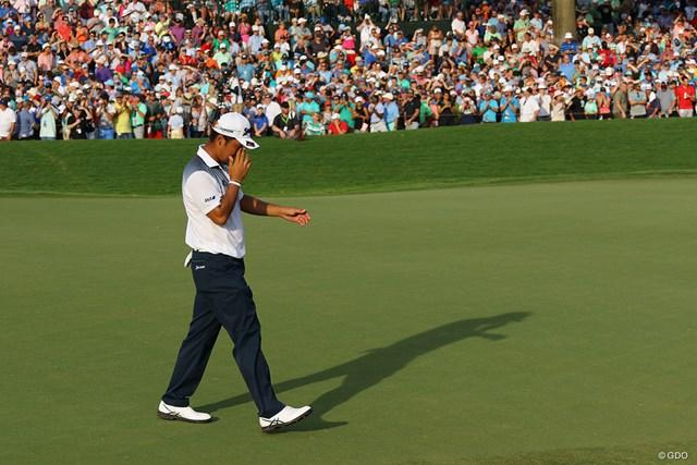 2017年 全米プロゴルフ選手権 最終日 松山英樹 一時首位に立ったが、5位。メジャー初勝利を逃し、松山英樹は涙をぬぐった