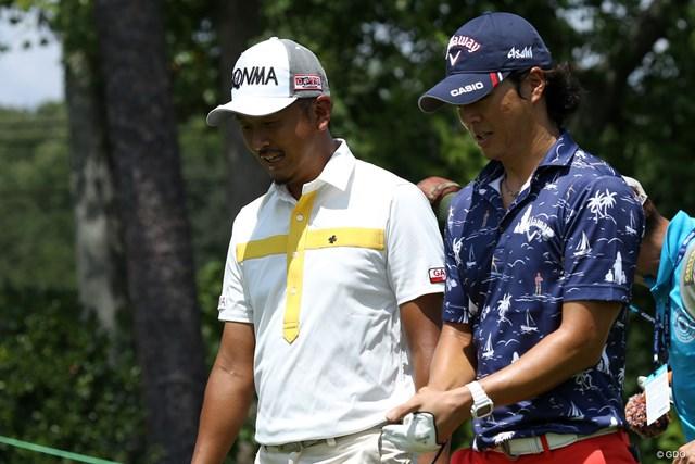 レギュラーツアー最終戦に出場する岩田寛と石川遼は開幕2日前に練習ラウンドを共にした