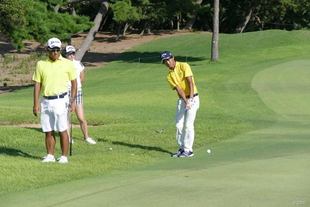 2017年 RIZAP KBCオーガスタゴルフトーナメント 事前 石川航 2年連続で大会に出場する石川航。この日は野上貴夫とラウンドした