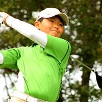 12歳の天才ゴルファー、加賀崎航太くん。タイガーも「素晴らしい」と感心しきりだった 2009年 加賀崎航太くん