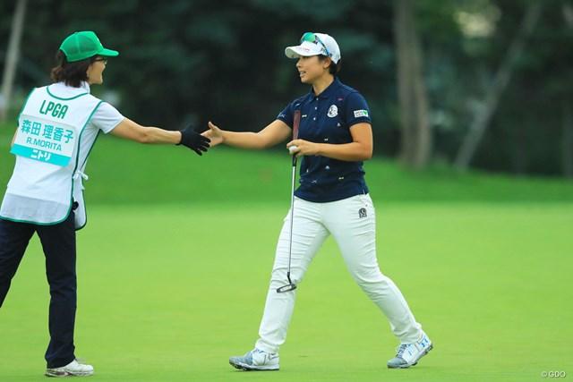 2017年 ニトリレディスゴルフトーナメント 初日 森田理香子 ウェイティングからの出場でしたが、19位タイとまずまずのスタートですね。