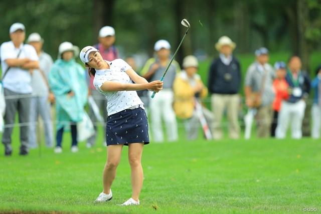 2017年 ニトリレディスゴルフトーナメント 2日目 諸見里しのぶ 今日は強い風に苦しんだか・・・。