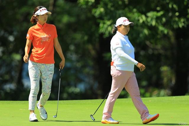 2017年 ニトリレディスゴルフトーナメント 3日目 李知姫 アン・ソンジュ 二人合わせて44勝ですか・・・今週もまた改めて、日本の女子ツアーは外国人選手を中心に回っているのだと改めて気付かされますね。