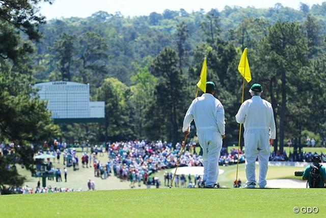 多くのパトロンに支えられるゴルフの祭典「マスターズ」 ※2017年最終日撮影