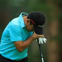 打った後にこんなにガッカリな平塚さんは初めて見ました。ゴルフの調子が悪いのか、どこか痛みがあるのか・・・。 2017年 フジサンケイクラシック 初日 平塚哲二
